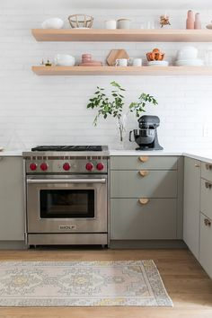 Home Decor Classy Sarah Sherman Samual and Eden Passante share a charming kitchen and dining room remodel. A modern and rustic kitchen and dining room with Ikea cabinets! Interior Modern, Home Interior, Interior Design, Rustic Kitchen, Kitchen Decor, Kitchen Ideas, Layout Design, Design Ideas, Sage Green Kitchen