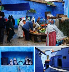 blue color combinations, moroccan architecture and painting ideas