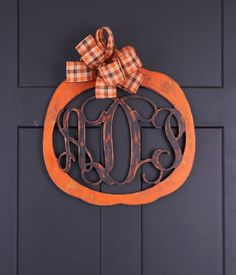 Easy Monogrammed Pumpkin Tutorial- Plus Other Great Ideas With Unfinished Wood!