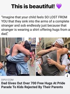 Get thin stomach learn how to tone your body! positive-memes: A wholesome dad positive-memes: A wholesome dad wear it down. June 15 2019 at Fitness Workouts, Positive Memes, Positive Things, Lgbt Memes, Lgbt Love, Faith In Humanity Restored, Free Hugs, Pride Parade, In This World