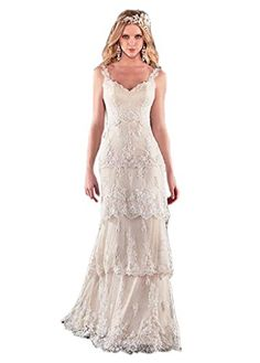 Ikerenwedding Women's Straps V-neck Lace Applique Edge Backless Wedding Dress Bride Gown Ivory US2 Ikerenwedding http://www.amazon.com/dp/B0172PAORE/ref=cm_sw_r_pi_dp_4Hapwb10ZZ9ZS