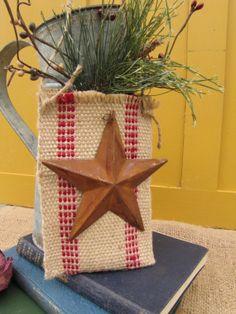 Jute Webbing Christmas Ornament Door Decor Red Jute Winter Wedding Bridal Rustic Primitive Garden Chic Ready to Ship