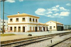 Rota Spain Train Station postcard circa 1966. Rota Spain, Submarines, Train Station, Places Ive Been, Mansions, Architecture, House Styles, Zentangle, Bella