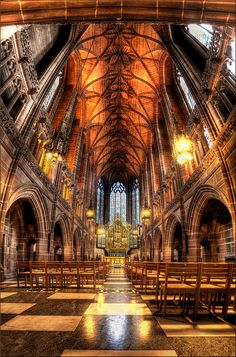 The Lady Chapel, Liverpool Cathedral, UK Shared by Motorcycle Fairings - Motocc Liverpool Cathedral, Liverpool Town, Liverpool History, Liverpool England, Cathedral Architecture, Roman Architecture, Interesting Buildings, Beautiful Buildings, Cathedral Church