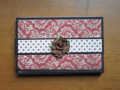 Travel Wallet Mini Album (Red) by lookingforrandom on Etsy