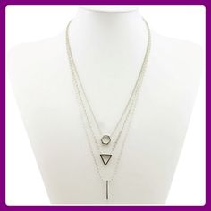 Beautiful Silver Shapes Delicate Necklace! ✨Beautiful Silver Shapes Delicate Necklace! This necklace has 3 shapes that consist of a Hexagon, Triangle, & a Silver Bar which flow very nice with each other. This necklace is also Nickel & Lead Free. Very Nice Piece to add to your Collection!✨ T&J Designs Jewelry Necklaces