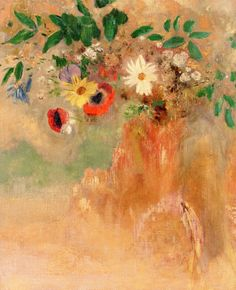 Intercepted by Gravitation | Odilon Redon (French, 1840-1916) Yellow Tree, Red...