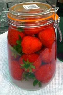 Strawberry Infused Vodka or Rum