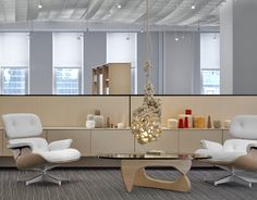 white ash eames lounge chair and ottoman- swoon!