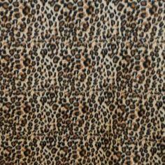 Black and Brown Cheetah Spot Fleece Fabric