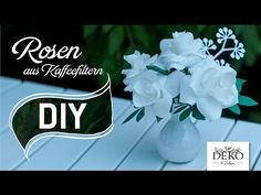 getlinkyoutube.com-DIY: romantische Rosen aus Kaffeefiltern | Deko Kitchen