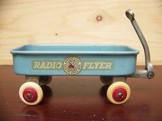 Radio Flyer Wagon Vintage 1930's Tin Litho Near Mint