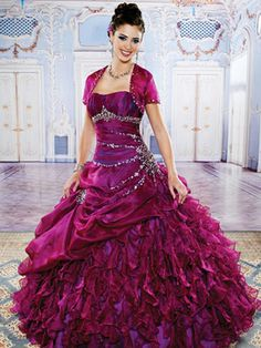 Purple Quinceanera Dresses - Full Princess Dress With Matching Bolero