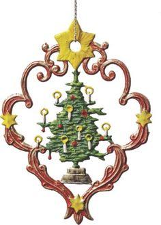 Käthe Wohlfahrt painted pewter german christmas ornament