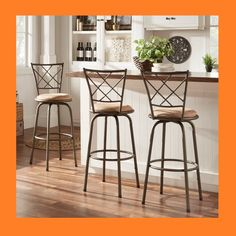 AMAZING Sweet Deal~Adjustable Swivel High Back Kitchen Stools~Currently 47% Off! A #SweetDeal #Ad by #BellaAtto