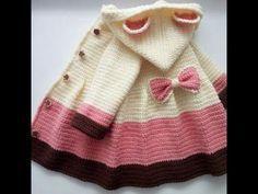 Abrigo para niña a crochet muy fácil #tutorial - YouTube