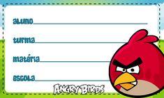 Etiqueta Escolar Personalizada Angry Birds