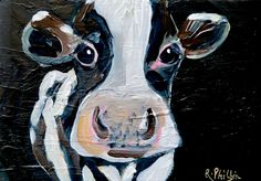 "'Black and White Cow""<p class="""" ... Fun Art, Cool Art, White Cow, Black And White, Irish Art, Watercolor Art, Original Paintings, Animals, Blanco Y Negro"