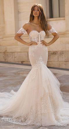 fb50354a25 BERTA Wedding Dresses 2019 - Athens Bridal Collection. Mermaid wedding  dress strapless sweetheart neckline detachable