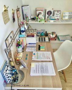 # zimmer + deko - New Sites Study Room Decor, Study Rooms, Cute Room Decor, Study Desk, Study Areas, Study Space, Bedroom Desk, Room Ideas Bedroom, Diy Bedroom