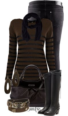 "Black and brown outfits | Black and Brown"" by jackie22 on Polyvore 