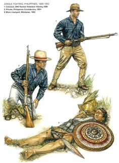 1899 - American infantry in the Philippines