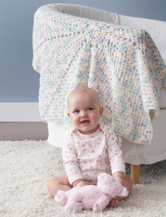 Yarnspirations.com - Bernat From The Middle Baby Blanket - Patterns  | Yarnspirations