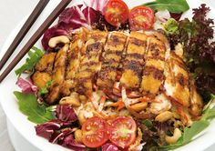 Ensalada César Thai / Thai Cesar Salad #comidathai #tailandia #thaifood #thailand #asianfood #comida #asiatica