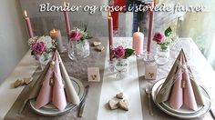ide til gammelrosa bord Pink Wedding Theme, Projects To Try, Table Settings, Invitations, Table Decorations, Party, Christmas, Inspiration, Design