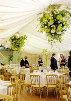 Green Floral Chandeliers | Polished 2 Perfection Event Planning & Design