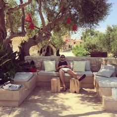"""""""Sit down and relax"""" time! Outdoor Furniture Sets, Outdoor Decor, Modern Luxury, Oasis, Relax, Traditional, Holiday, Summer, Vacations"""