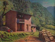 'Firewood' - Realist Painting