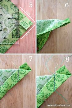 A simple tutorials on how to make handmade mitered corners napkins from fat quarters as an easy DIY project for home. A simple sewing tutorials on how to make handmade mitered corners napkins from fat quarters as an easy DIY project for home. Sewing Hacks, Sewing Tutorials, Sewing Crafts, Sewing Tips, Diy House Projects, Easy Diy Projects, Garden Projects, Diy Couture, Leftover Fabric