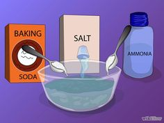 Prepare a solution consisting of 1 qt. (1 liter) of water, 1 tbsp. (14 g) of salt, 1 tbsp. (14 g) of baking soda (sodium bicarbonate) and 1 ...