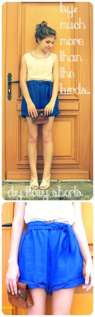 much more than the birds.: diy super easy flowy shorts