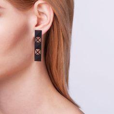 Designer Summer Joy Powell's 3D Printed Art-Deco Inspired Earrings