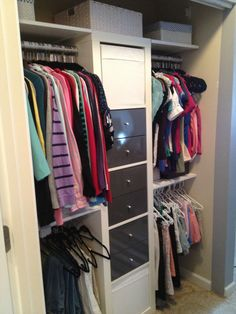 Ikea hack expedit and plywood closet makeover