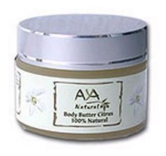 AYA Natural Body Butter Citrus For Extra Dry Skin 50 ml / 1.7 fl.oz | Yardenit.com This butter is a good sensual AYA Natural body, face moisturizer and skin food. It can be used on your AYA Natural body, face and hair, also good for itchy, dry and mature skin, elbows and feet. Ingredients: Shea Butter, Cocoa Butter, Jojoba Oil, Olive Oil, Beeswax, Coconut Oil, Apricot Kernel Oil, Wheat Germ Oil, Sweet Almond Oil, Avocado Oil, Tocopherol (Vitamin E), Essential Oil, Citrus.