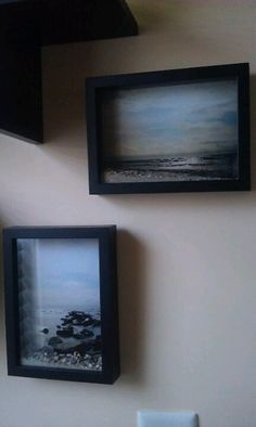 place a picture from the beach you visited in a shadow box frame and fill the bottom with sand/shells from that beach!