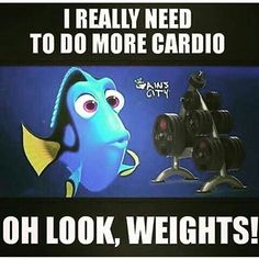 I really should do more cardio...