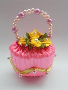 Fragrant soap flower basket_Lack purple @ $4.00 each Code No. SB001  Fragrant soap flower basket_Lace pink @ $4.00 each Code No. SB002  Fr...
