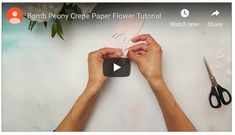 We have a new DIY tutorial from a much-admired paper floral artist, Catherine Oxley of Bouq paper Flowers. Catherine has designed this peony to be an easy and fun way to get started. It's a nice, big fluffy flower that carries a lot of impact. Flowers For You, Diy Flowers, Colorful Flowers, Flower Decorations, Crepe Paper Flowers Tutorial, Giant Paper Flowers, Diy Paper, Paper Crafts, Handmade Flowers