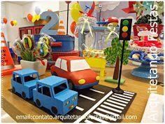 Arquitetando Festas: Meios de Transporte Guilherme 2 anos - Festa Clean Meios de Transporte