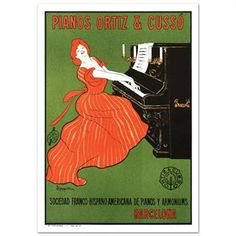 """""""Piano Ortiz and Cuzzo"""" Hand Pulled Lithograph by the RE Society, Image Originally by Camiro with Cert! List $250"""