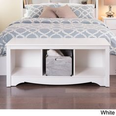 Winslow White Twin Cubbie Bench - Overstock Shopping - Great Deals on Benches