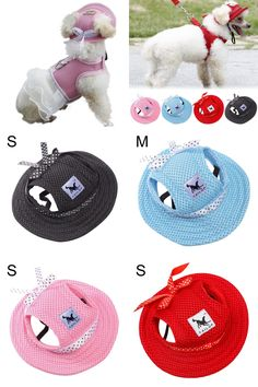 [Visit to Buy] 2017 Summer Small Pet Dog Outdoor Baseball Cap Hat With Ear Holes Canvas For Dog Accessories Hiking Pet Products 4 Styles #Advertisement