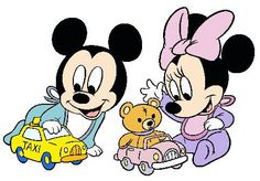 Baby Mickey, Minnie Playing With Toys - Disney Babies - Disney's Famous Characters in 4 sizes Embroidery - Mickey Minnie Mouse, Disney Mickey, Baby Milestone Book, Baby Disney Characters, Disney Colors, Cartoon Tv Shows, Disney Coloring Pages, Baby Mouse, Disney And More