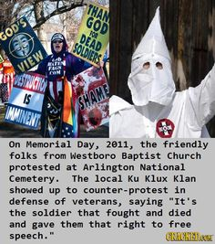 You KNOW that you've screwed up when the KKK shows up to protest YOU because you're so terrible.