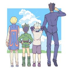 Hunter x Hunter Big family Otaku Anime, Manga Anime, Anime Amor, Me Anime, Hunter X Hunter, Hunter Anime, Hisoka, Hxh Characters, Naruto