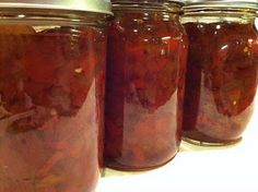 Harry and David's Pepper and Onion Relish canning recipe. Tastes just like the real thing, at a fraction of the price. :)